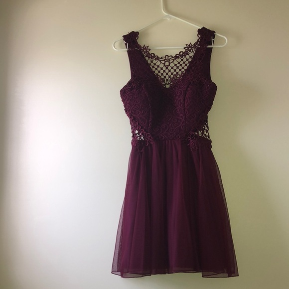 City Triangles Dresses & Skirts - burgundy homecoming dress!!